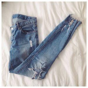 Tuin Denim Greeda Destroyed Hem Skinny Jeans